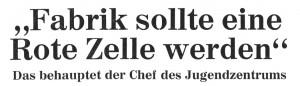 Schlagzeile des Hamburger Abendblatts vom 20./21. Januar 1973